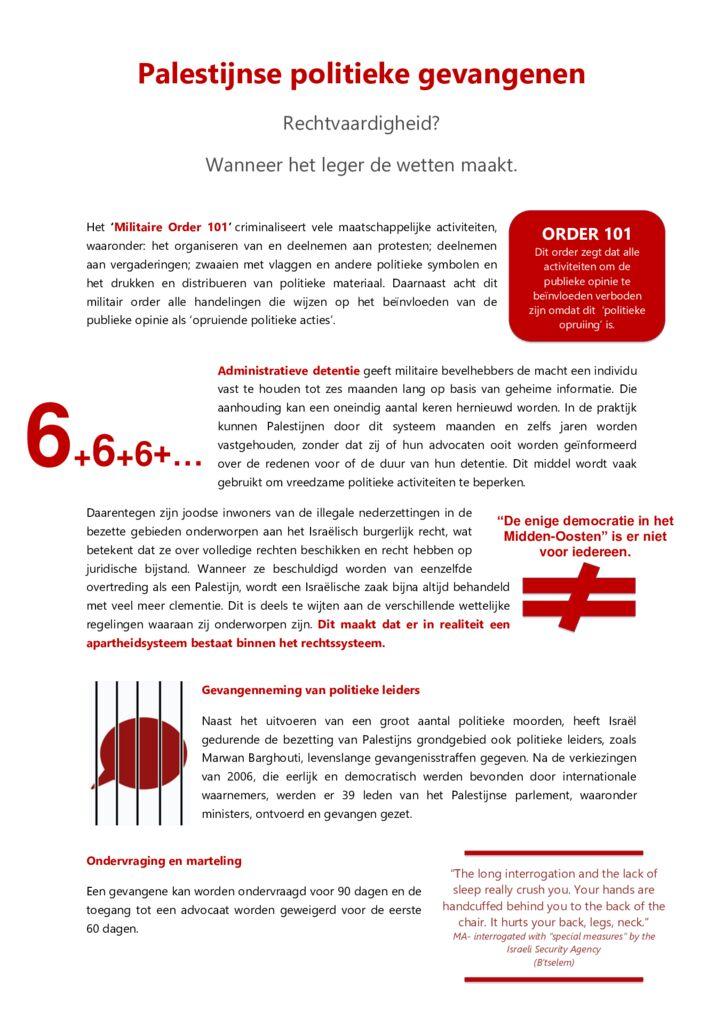 thumbnail of Flyer tentoonstelling politieke gevangenen (1)